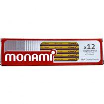 مداد مشکی HB شش وجهی مونامی مدل MO-112 بسته 12 عددی