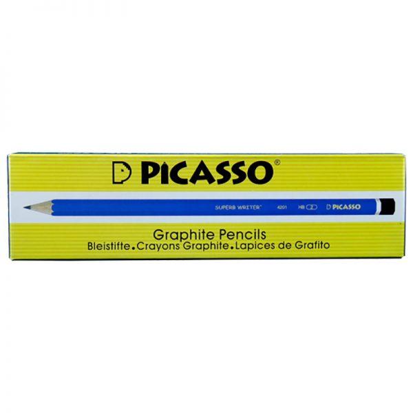 مداد مشکی HB شش وجهی پیکاسو مدل 4201 بسته 12 عددی