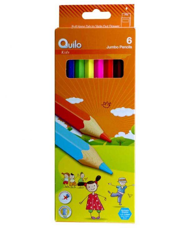مداد رنگی 6 رنگ کویلو مدل جامبو