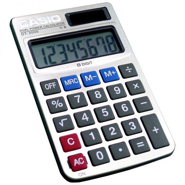 ماشین حساب کاسیو مدل DT-3000