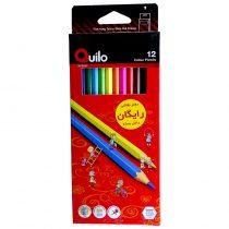 مدادرنگی 12 رنگ جعبه مقوایی کویلو کد 634003