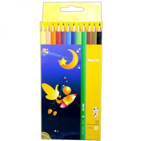 مداد رنگی 12 رنگ فکتیس با جعبه مقوایی