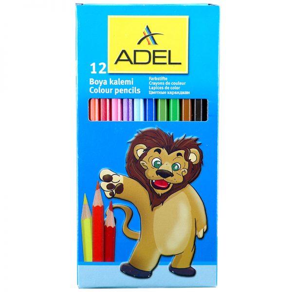 مدادرنگی 12 رنگ جعبه مقوایی آدل