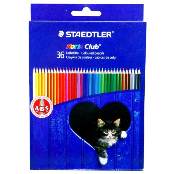 مداد رنگی 36 رنگ استدلر مدل نوریس کلاب