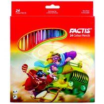 مداد رنگی 24 رنگ جعبه مقوایی فکتیس