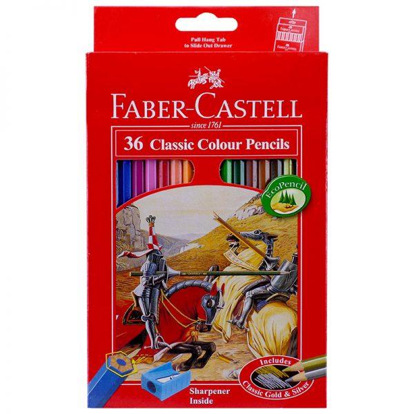مداد رنگی 36 رنگ جعبه مقوایی فابرکاستل کد 115856