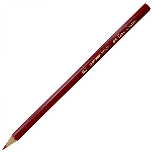 مداد قرمز HB شش وجهی فابرکاستل مدل 111110