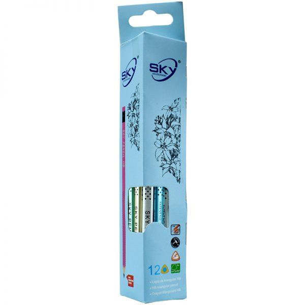 مداد مشکی HB اسکای کد S-810 بسته 12 تایی