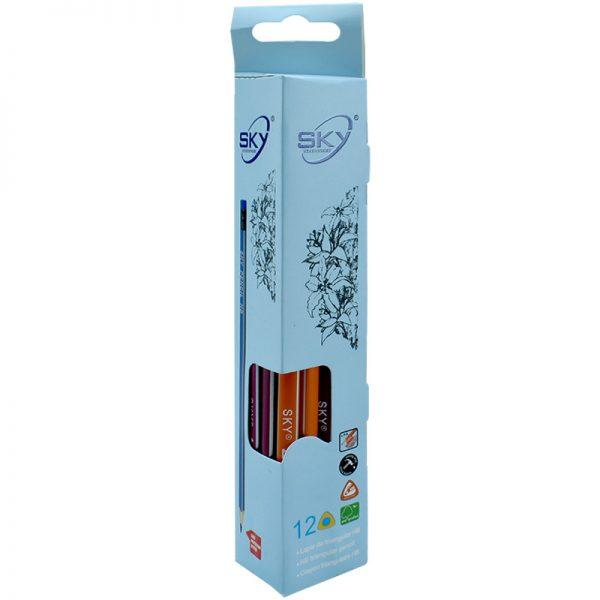 مداد مشکی HB اسکای کد S-800 بسته 12 تایی