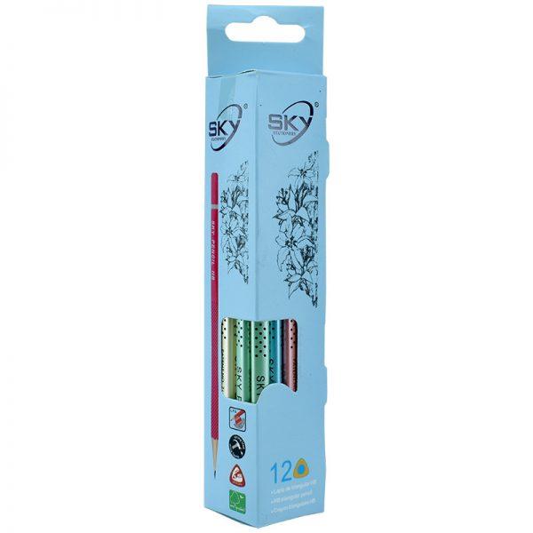 مداد مشکی HB اسکای کد S-910 بسته 12 تایی