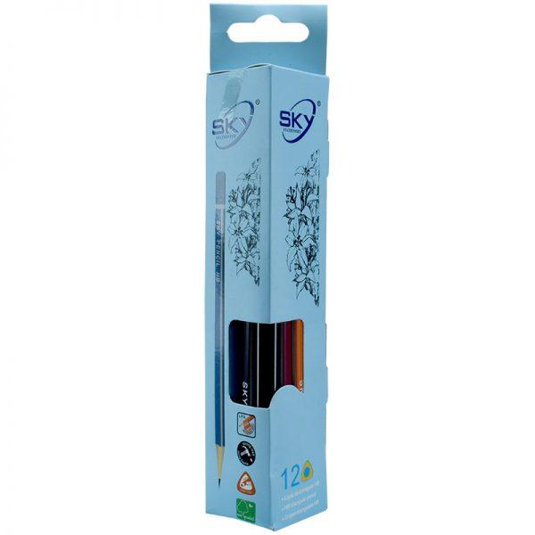 مداد مشکی HB اسکای کد S-900 بسته 12 تایی