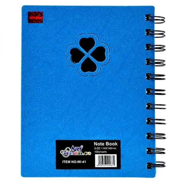 دفترچه یادداشت 100 برگ آرت نگین سایز متوسط کد MI-41