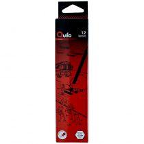 مداد مشکی HB پاک کن دار شش وجهی کویلو مدل 634001 بسته 12 عددی
