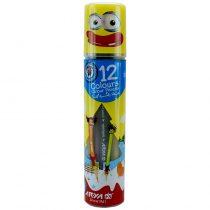 مداد رنگی 12 رنگ استوانه ای آریا کد 3051
