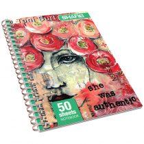 دفتر زبان 50 برگ کلاسیک سیمی جلد طلقی شفیعی کد 121