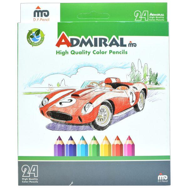 مداد رنگی 24 رنگ جعبه مقوایی ادمیرال