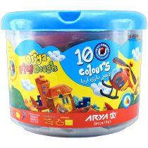 خمیر بازی سطلی 10 رنگ آریا کد 1068