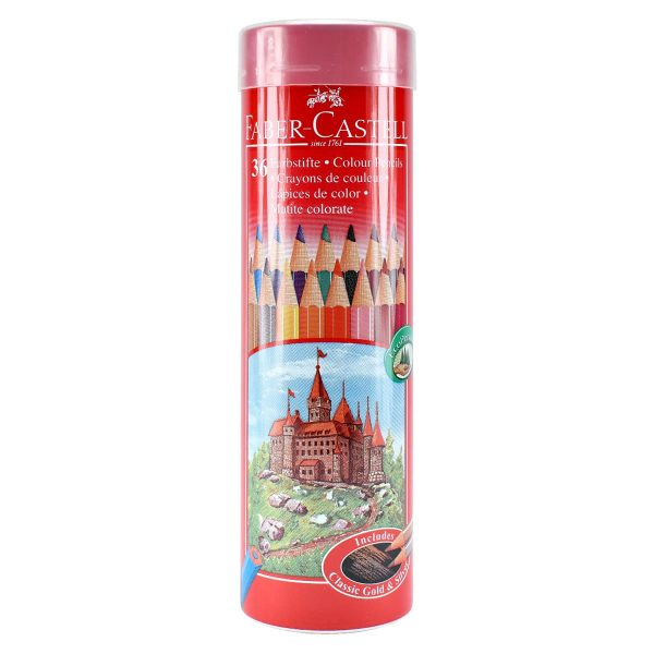 مداد رنگی 36 رنگ استوانه ای فابرکاستل