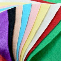 نمد رنگی سایز A3 بسته 10 تایی