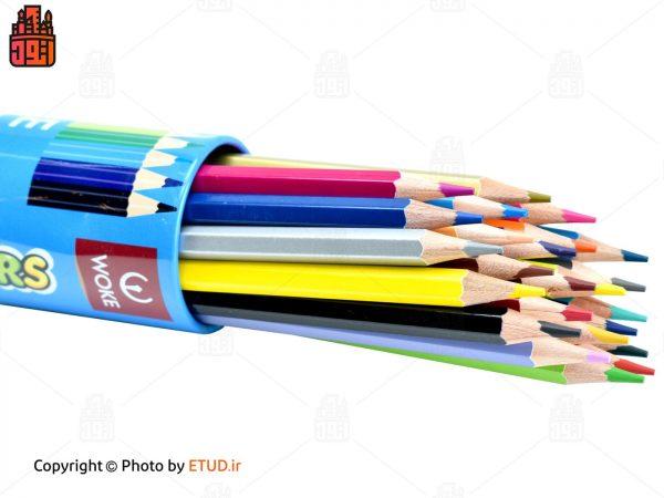 مداد رنگی 24 رنگ استوانه ووک
