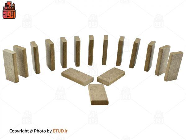 دومینو چوبی ساده 100 قطعه ای