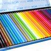 مداد رنگی 36 رنگ جعبه فلزی ووک