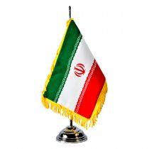 پرچم ایران رومیزی مخمل با پایه