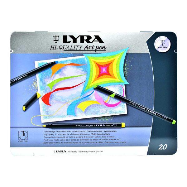 ماژیک حرفه ای 20 رنگ لیرا مدل Art Pen Professional